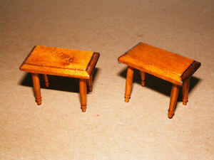 Wooden Doll Furinture - 2 Small Square Tables