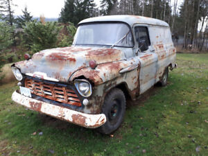 1957 Chev rat rod panel truck - all original runs and drives