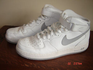 Nike Air Force 1 Mid Men's Leather Basketball Shoes Size 13