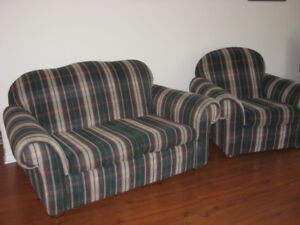 Matching Loveseat & Chair Set. Good Condition.