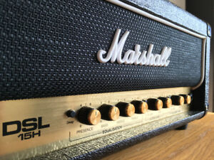 Marshall DSL15H + footswitch + housse vinyl cover