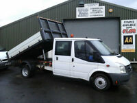 Ford Transit 2.4TDCi Duratorq ( 115PS ) Double cab tipper *Ex council 55k miles*