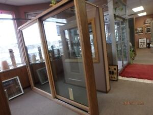 Sliding Patio door. Aluminum out, unfinished Douglas Fir in