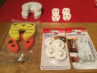 Baby safety - Cupboard locks, socket covers, door stoppers