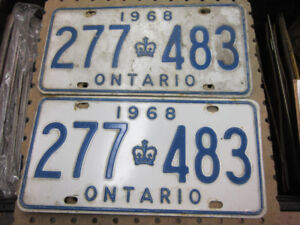 Ministry Approved YOM License Plate Pairs for Classic cars.