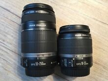 Genuine CANON LENSES -  EFS 18-55mm & EFS 55-250mm - AS NEW! Mawson Woden Valley Preview
