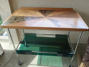 TABLE WITH WHEELS (possibly a serving table)
