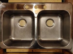 Double Bowl Drop In Stainless Steel Kitchen Sink