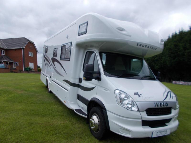 Rs endeavour 6 berth large rear garage motorhome for sale for Rv with car garage for sale