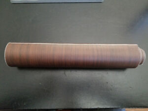 "FS:  Textured Teak Wood Grain Vinyl film wrap  - 12"" x 5 ft roll"