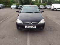 2002 Vauxhall Corsa Automatic Petrol 1.2 i 16v SXi Easytronic 5dr Hatchback Black Hpi Clear