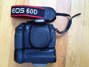 Canon 60D (Body Only) with Battery grip