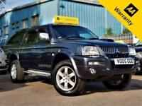 2005 MITSUBISHI L200 2.5 TD 4WD LWB WARRIOR DCB 114 BHP+LEATHER+AIR-CON+TOW-BAR!