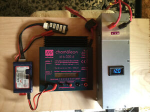 RC Schulze Chamaleon isl-330d Charger with 17A Power Supply