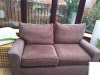 Next 2 seater sofa (Brown)