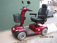 4 wheel 2013 invacare comet alpine mobility scooter heavy duty