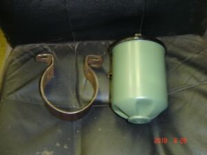 Vintage Fram Remote Oil Filter Canister & Bracket.