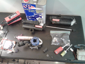 O.S.30VG NITRO MOTOR,EXH.,CLUTCH,EZ START,BATTS.,CHGR,TANK,++