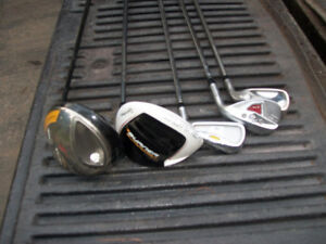 Taylormade  golf club  drivers irons wedge lot of 4 Right Hand