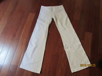 Lululemon track pants Good used condition Size 6 White
