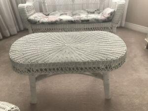 Wicker Furniture Set (white)