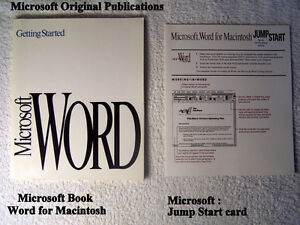 """Getting Started Microsoft Word"" for Macintosh ,Version 5.0,"