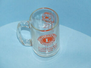 Vintage Schumacher Lions Club mug from 1973