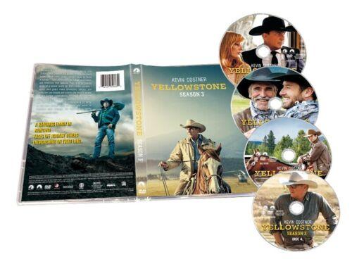 Yellowstone Season 3 (DVD, 4-Disc,2020) Brand NEW & Sealed Fast Shipping