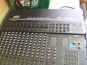 Peavey Mixer, speakers, mics etc