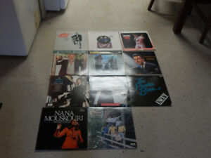 Assortment of vinyl records 10$