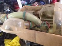habitrail hamster cage and tubes