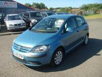 55 VOLKSWAGON GOLF PLUS 1.9 TDI SE 5DR METALLIC BLUE