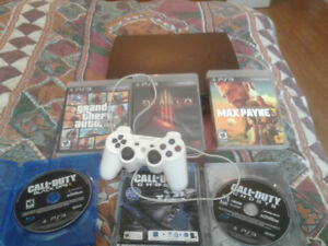 PS3 Controller FIve Games Black ops 2 Ghosts GTA 5 Diablo etc