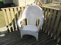 Large White Patio Chair