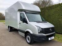 2014 14 VOLKSWAGEN CRAFTER CR35 2.0 TDI 136 DROPWELL LUTON * REMOVALS VAN * AIR