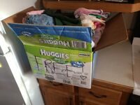 PPU. Two Boxes : Free girls 0-12 month clothing