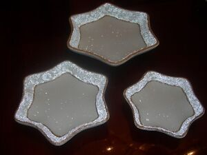 Cream Serving dishes with Gold Trim. In star shape. Brand new. Kitchener / Waterloo Kitchener Area image 3