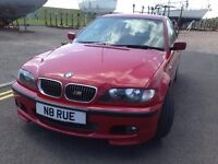 BMW 325i M SPORT 2003 BLACK LEATHER A/C CRUISE CONTROL FULL SERVICE HISTORY IMOLA RED