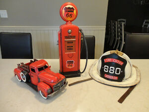 Three Cool Reproduction 1940's Tin Toys for Home Decor use