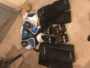 Assorted Hockey equipment