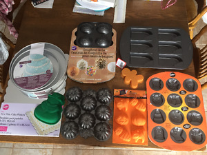 Lot of brand new cake moulds