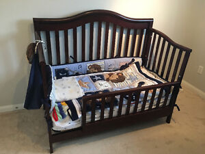Crib toddler bed and Dresser changing table