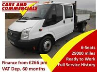 2014 FORD TRANSIT TIPPER DOUBLE CAB 350 EF 1 Way 1 Stop 125ps
