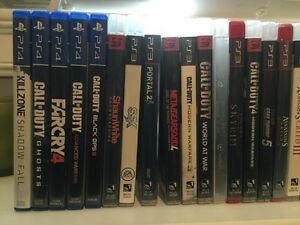 PlayStation systems PS4, PS3 and PS2