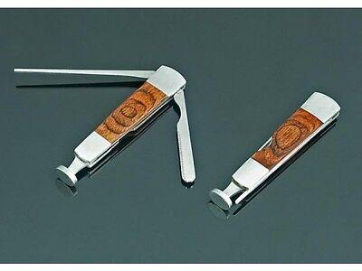 Pfeifenbesteck Stopfer 3-teilig Pfeifenmesser Metall Holz Reinigung Pfeifendorn