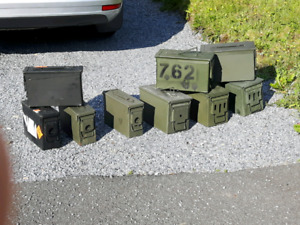 Lot of 9 ammo cans