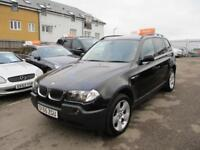 2005 BMW X3 SUV 2.0d 150 SE 6Spd Diesel black Manual
