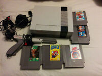 Original nintendo bundle with 6 games, controller and zapper
