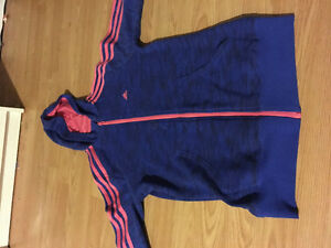 Pink and blue addidas sweater