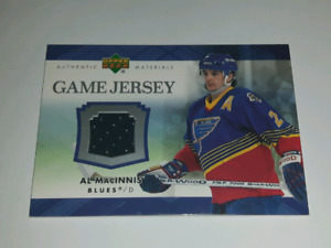 AL Macinnis NHL hockey Jersey card